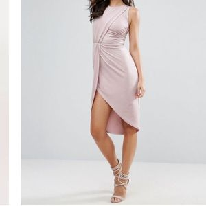 ASOS Embellished Trim Waist Bodycon Dress Lilac